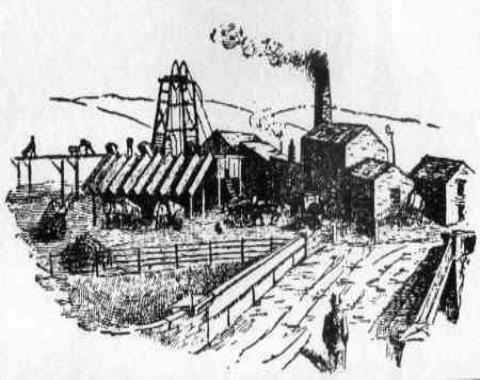 The colliery in 1880